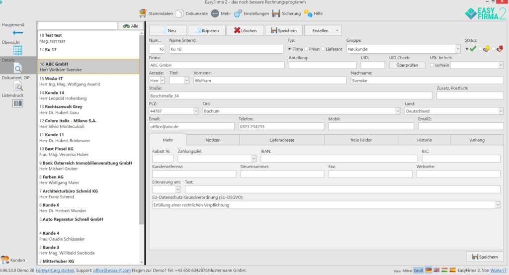 Kundenverwaltung_detail