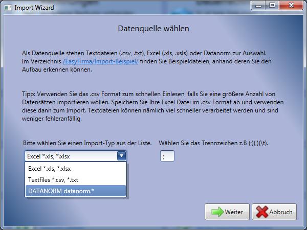 Datanorm Export