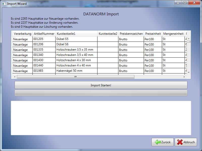 Datanorm Import