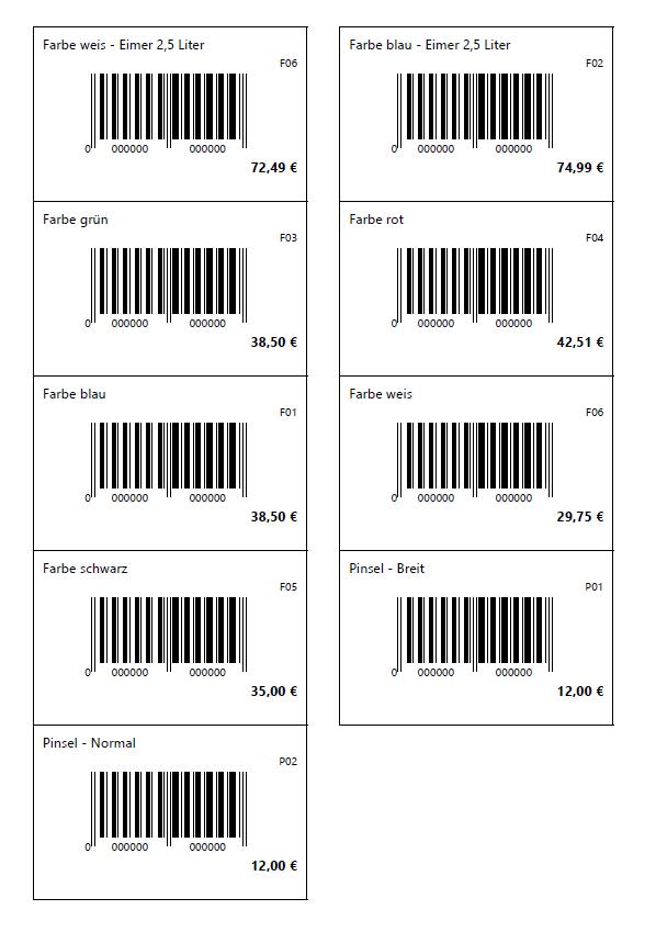 Barcode vom Warenwirtschaftsprogramm EasyFirma 2